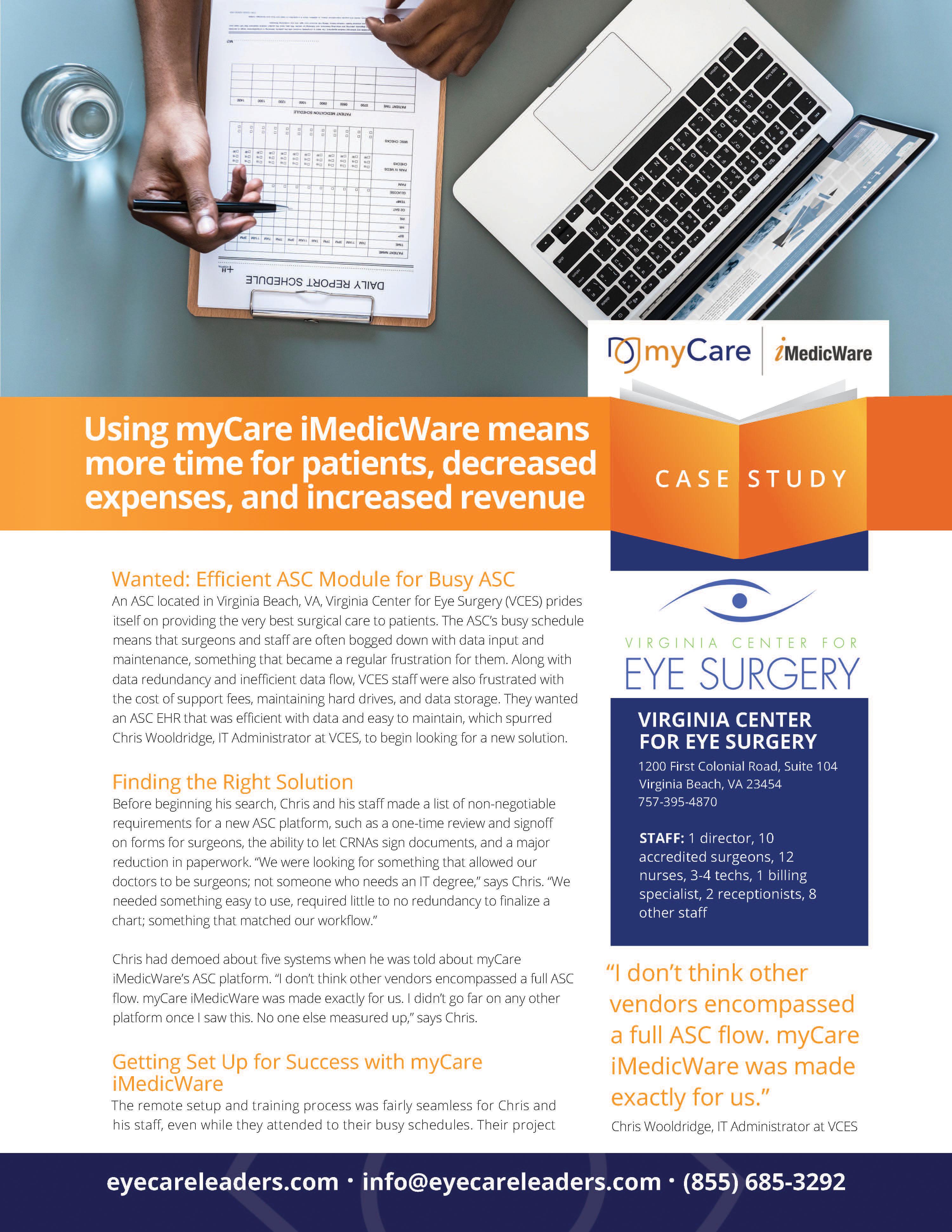Virginia Center for Eye Surgery Case Study