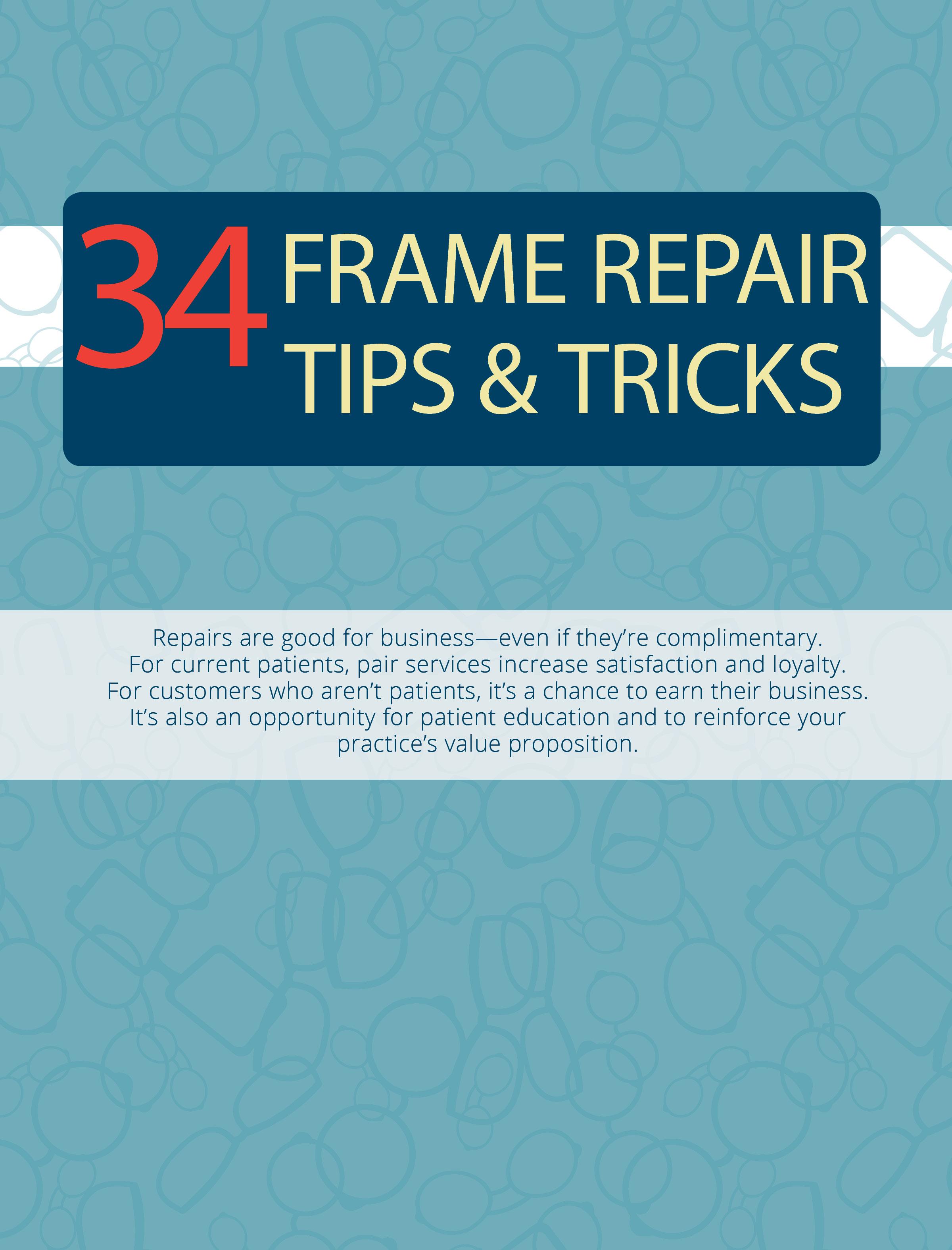 34 tips for glasses repair